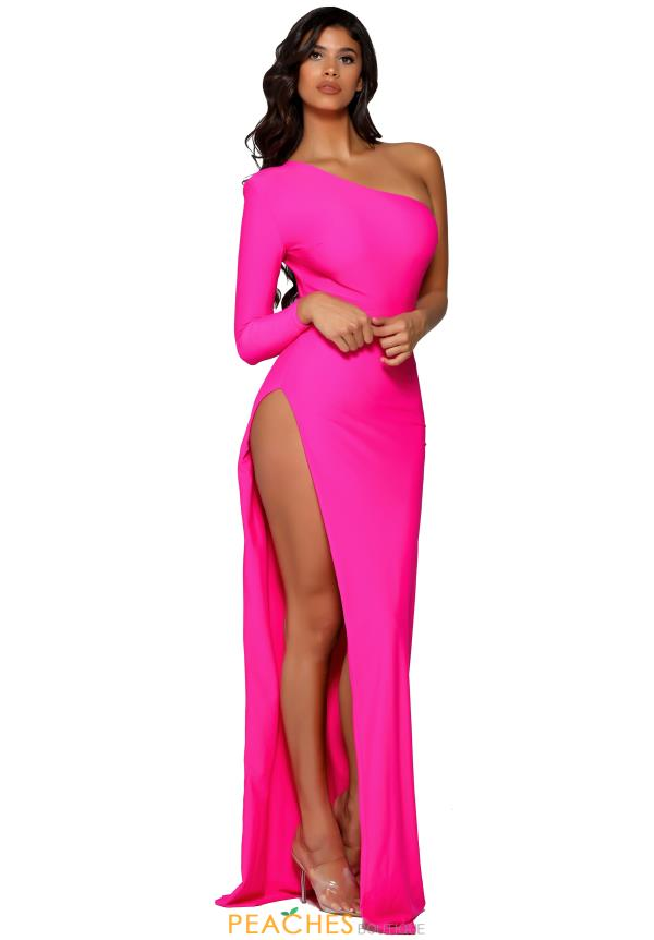 Portia and Scarlett Long Hot Pink Prom Dress PS6374