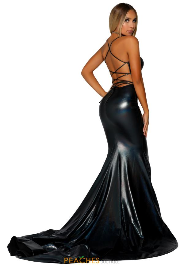 Portia and Scarlett Long Fitted Prom Dress PS6380