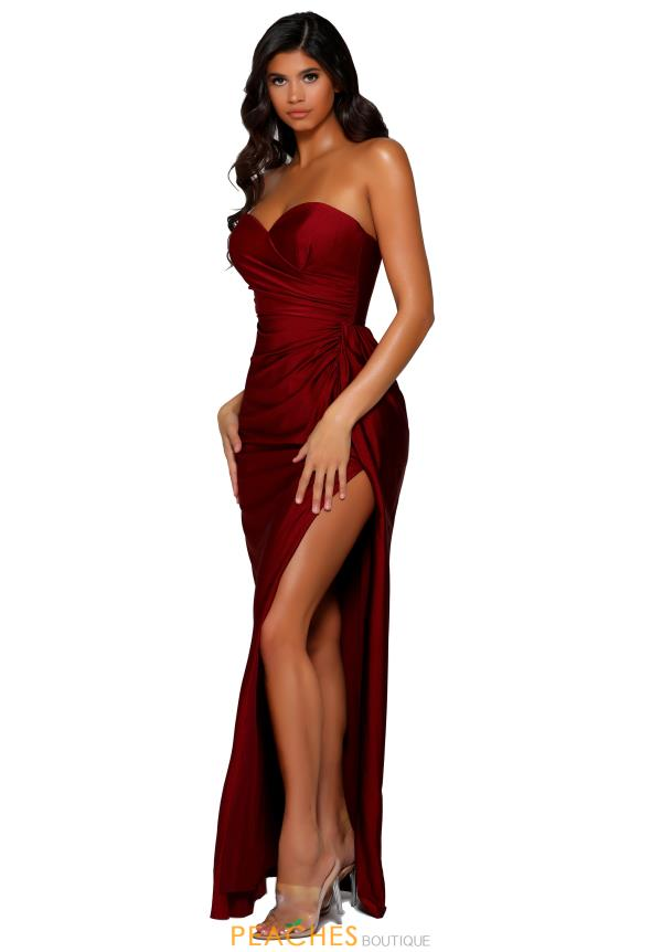 Portia and Scarlett Long FItted Prom Dress PS6394