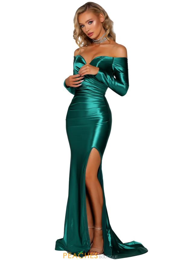 Portia and Scarlett Long Cap Sleeve Prom Dress PS6397