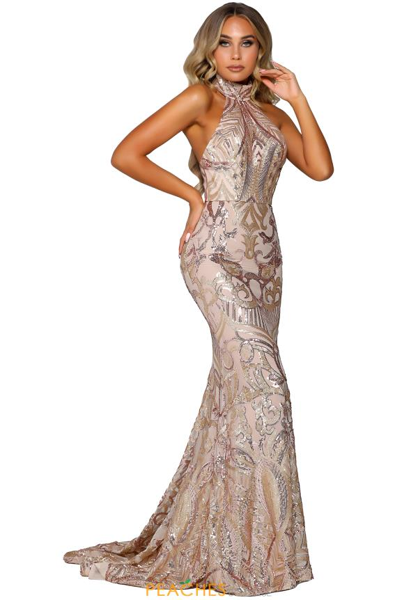 Portia and Scarlett Fitted Halter Prom Dress PS6403