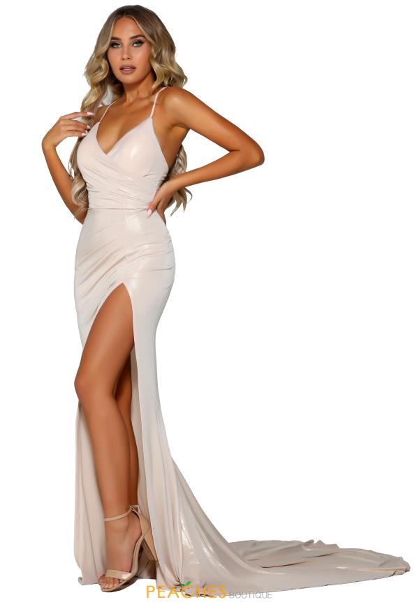 Portia and Scarlett Long Fitted Prom Dress PS6405