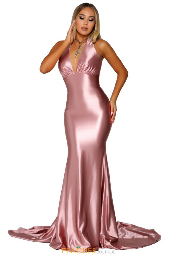 Portia and Scarlett Fitted Blush Prom Dress PS6416