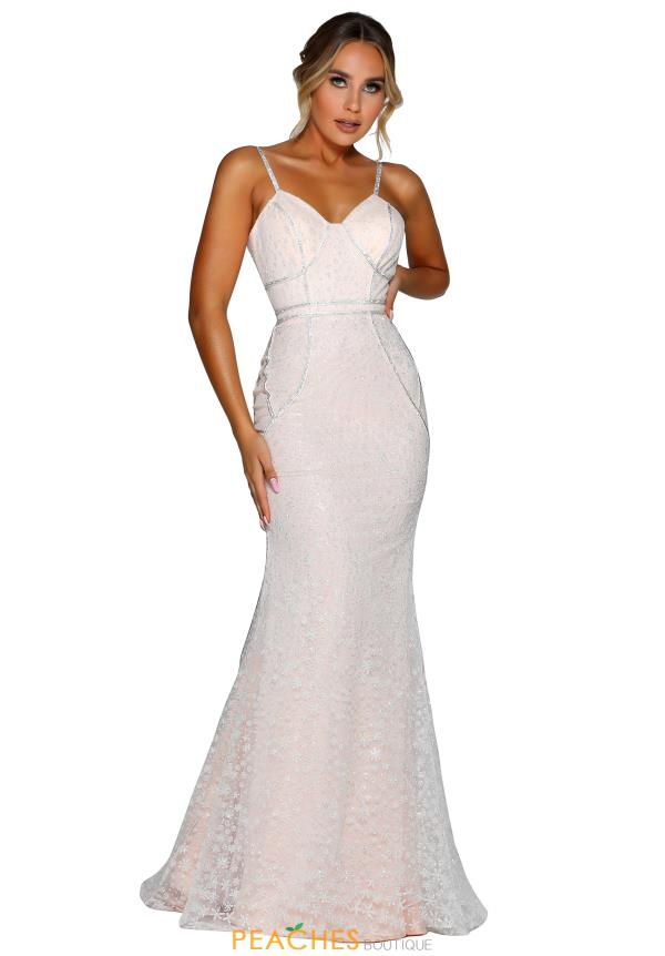 Portia and Scarlett Long Ivory Prom Dress PS6423