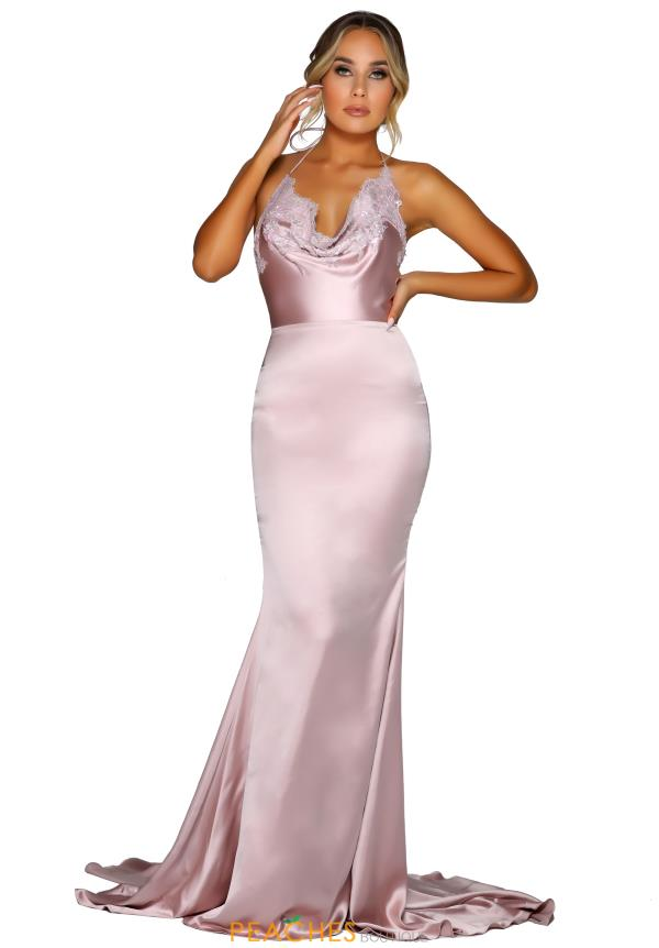 Portia and Scarlett Satin Lace Prom Dress PS6426