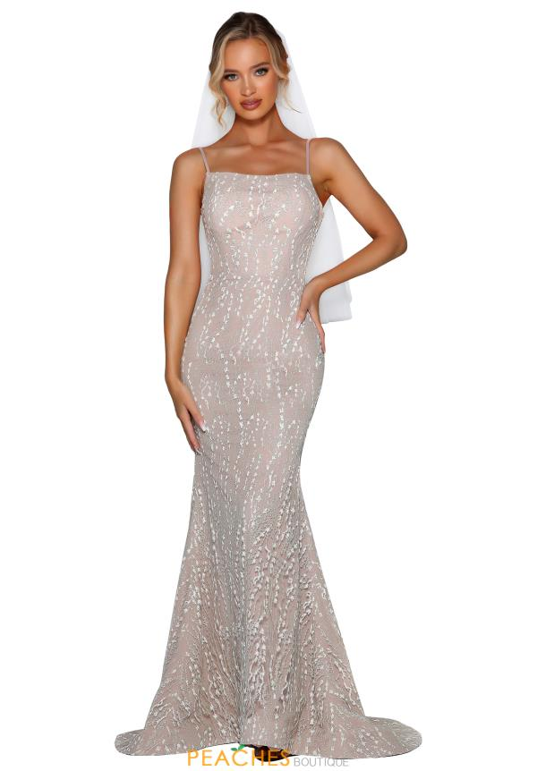Portia and Scarlett Long Glitter Prom Dress PS6429