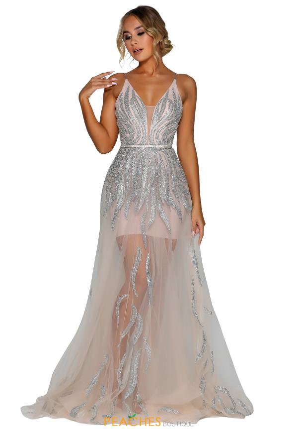 Portia and Scarlett Sheer A Line Prom Dress PS6503