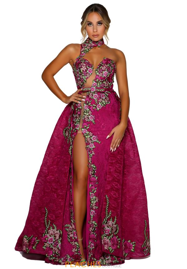 Portia and Scarlett Lace Magenta Prom Dress PS6820S