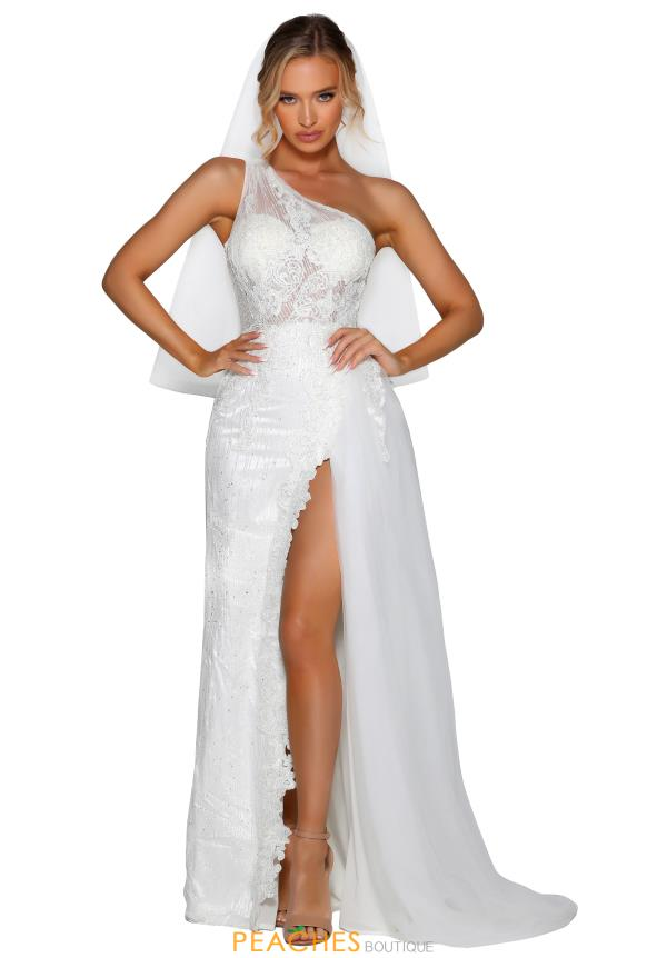 Portia and Scarlett Long One Shoulder Prom Dress PSB6802