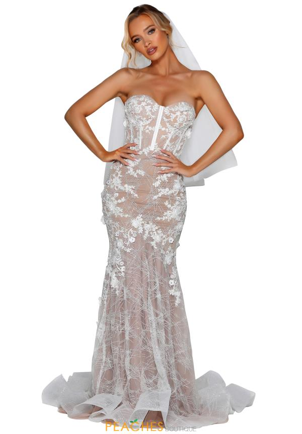 Portia and Scarlett Long Lace Prom Dress PSB6807