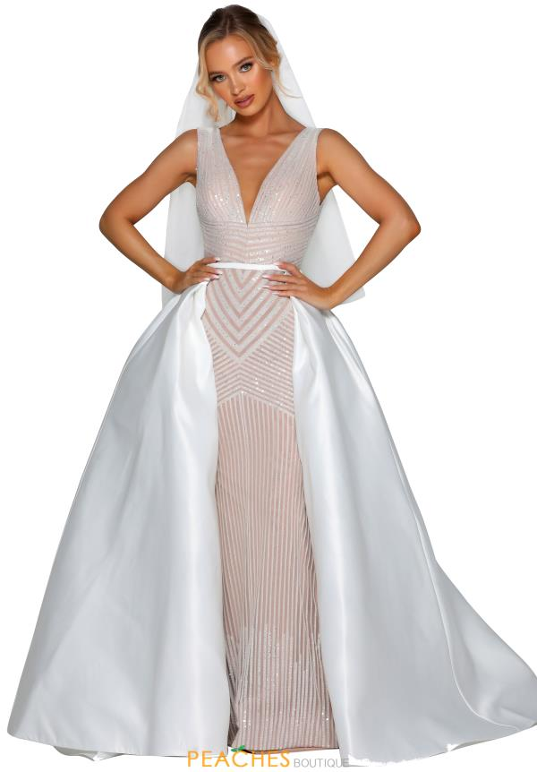 Portia and Scarlett Long Ivory Prom Dress PSB6808S