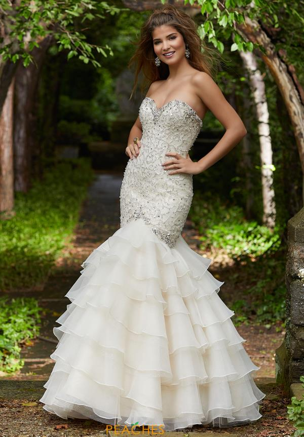 Morilee Strapless Beaded Dress 45055