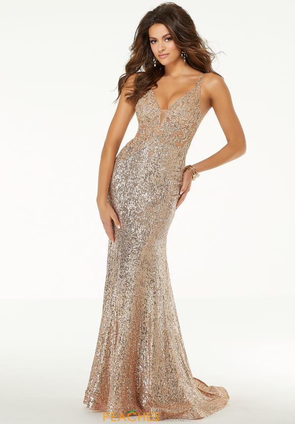 Morilee V- Neckline Beaded Dress 45059