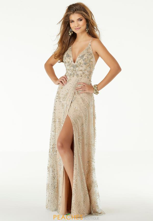 Morilee Long Beaded Dress 45082