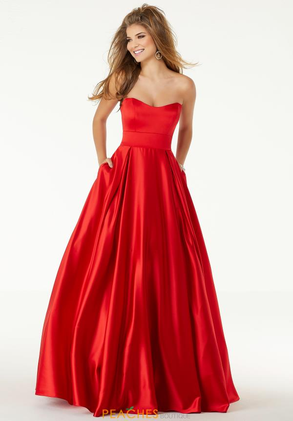 Morilee Strapless A Line Dress 45090