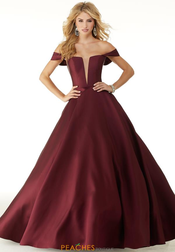 Mori Lee Cap Sleeve Long Dress 43041