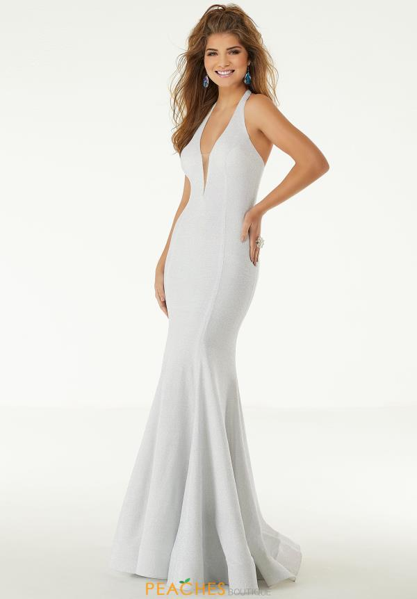Morilee V-Neck Jersey Dress 43127