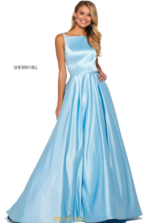 Sherri Hill High Neckline Satin Dress 53316