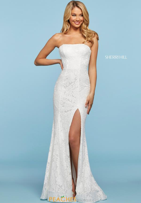 Sherri Hill Fitted Sexy Back Dress 53358