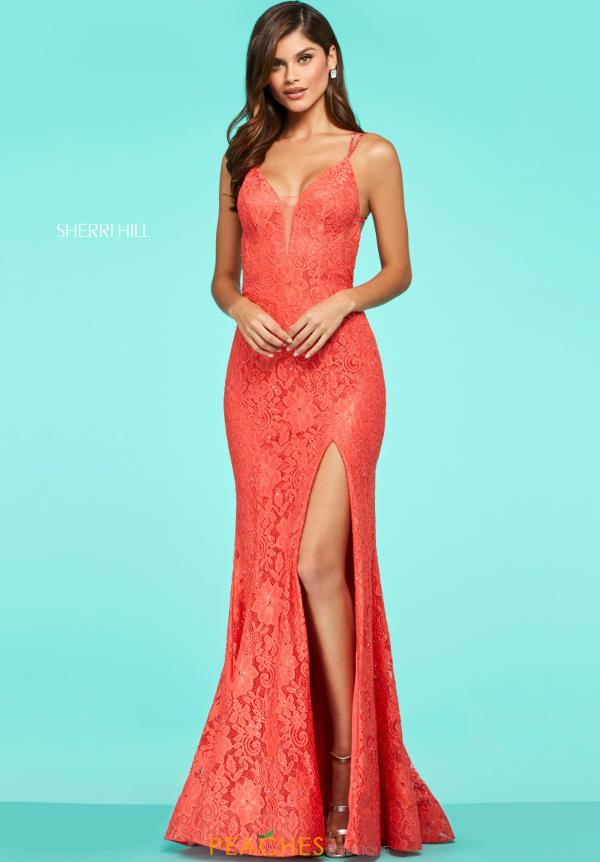 Sherri Hill Sexy Back Fitted Dress 53360