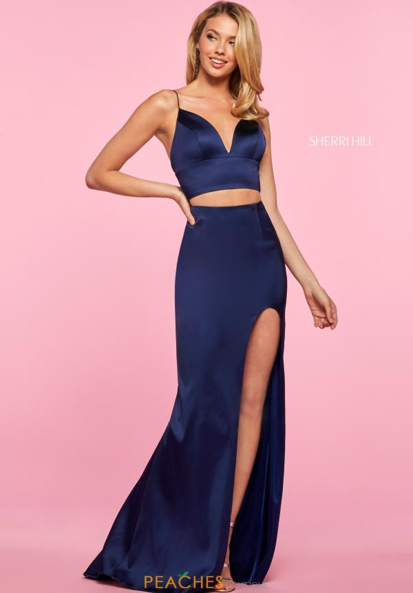 Sherri Hill Two Piece Satin Dress 53387