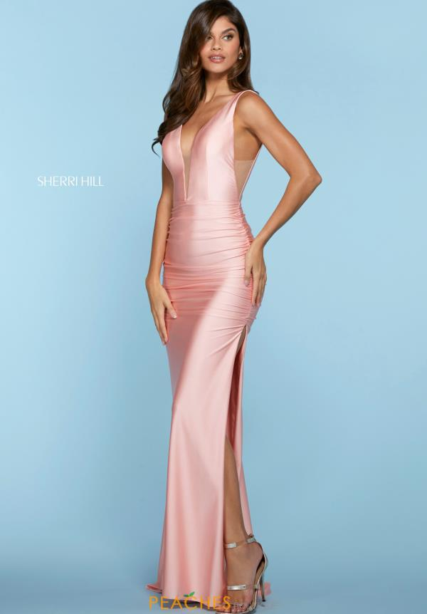 Sherri Hill V-Neck Jersey Dress 53597