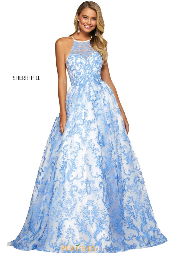 Sherri Hill High Neckline Beaded Dress 53620