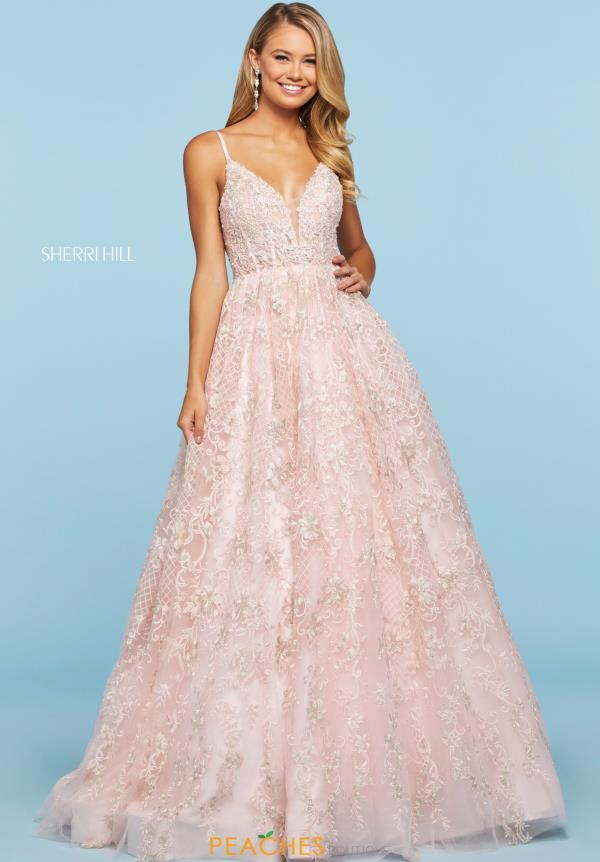 Sherri Hill A Line Applique Dress 53625