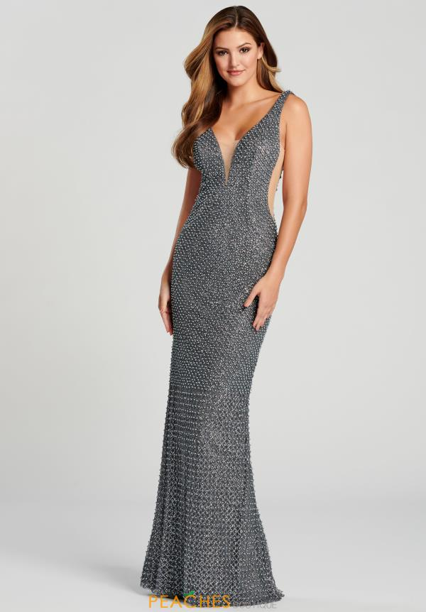 Ellie Wilde V-Neck Beaded Dress EW120006