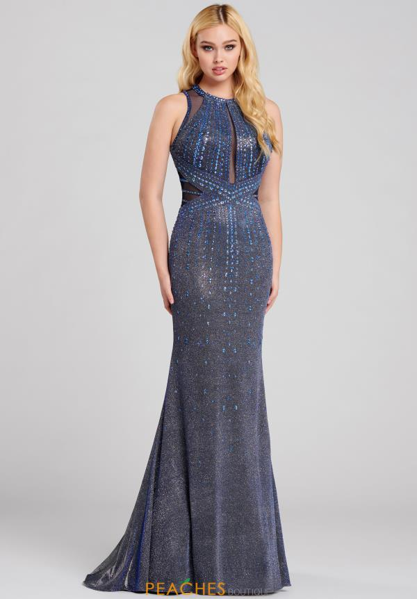 Ellie Wilde Halter Beaded Dress EW120066