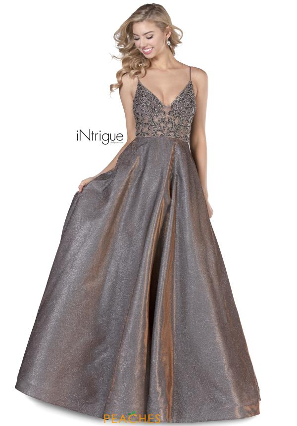 Intrigue by Blush V-Neck Beaded Dress 710