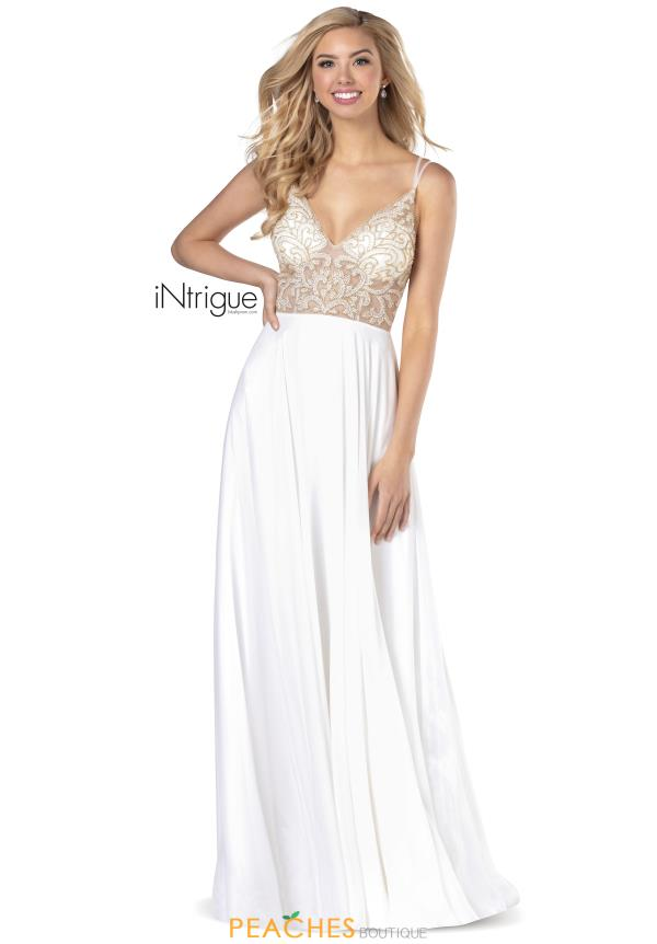 Intrigue by Blush V-Neck Chiffon Dress 733