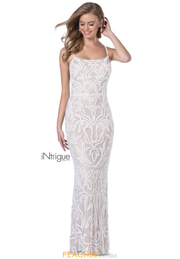 Intrigue by Blush Fitted Tulle Dress 736