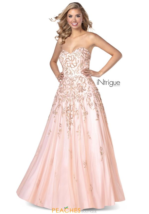 Intrigue by Blush Strapless Tulle Dress 738