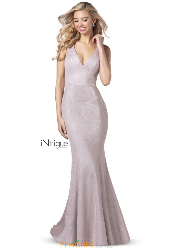Intrigue by Blush V-Neck Glitter Dress 742