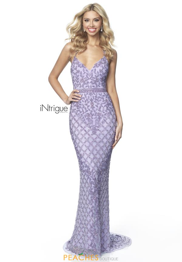 Intrigue by Blush V-Neck Beaded Dress 763
