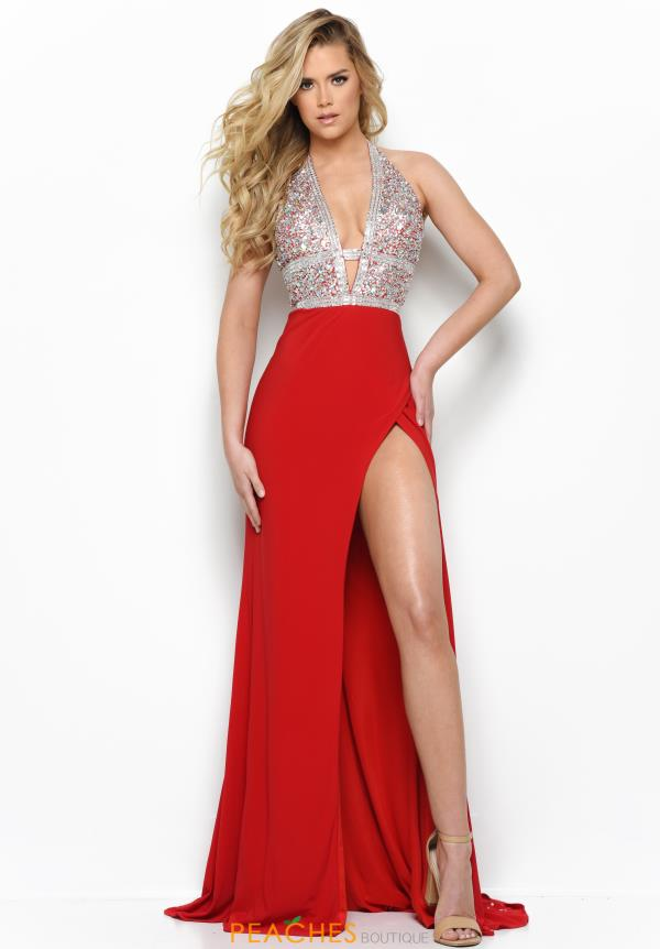 Jasz Couture Long Beaded Dress 7006