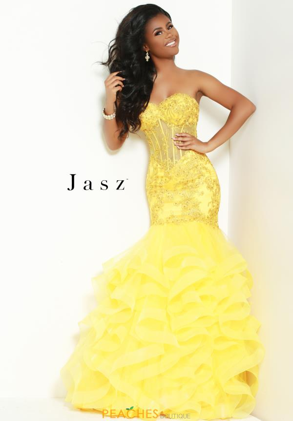 Jasz Couture Corset Fitted Dress 7025
