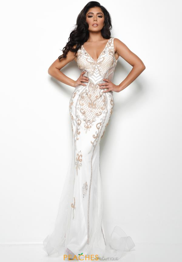 Jasz Couture Long Fitted Dress 7053