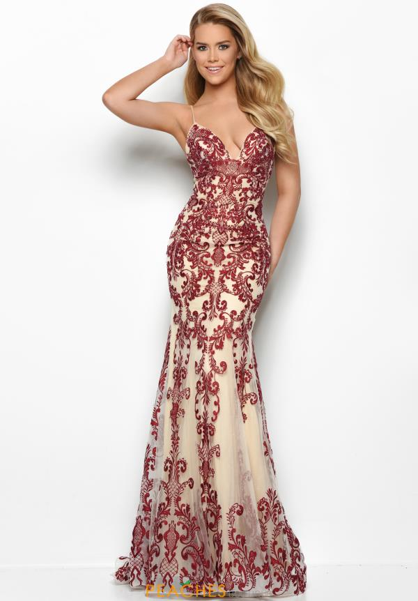Jasz Couture Long Beaded Dress 7087