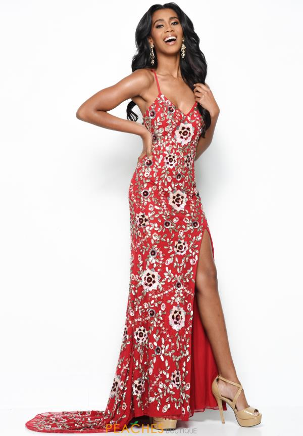 Jasz Couture Long Red Dress 7103
