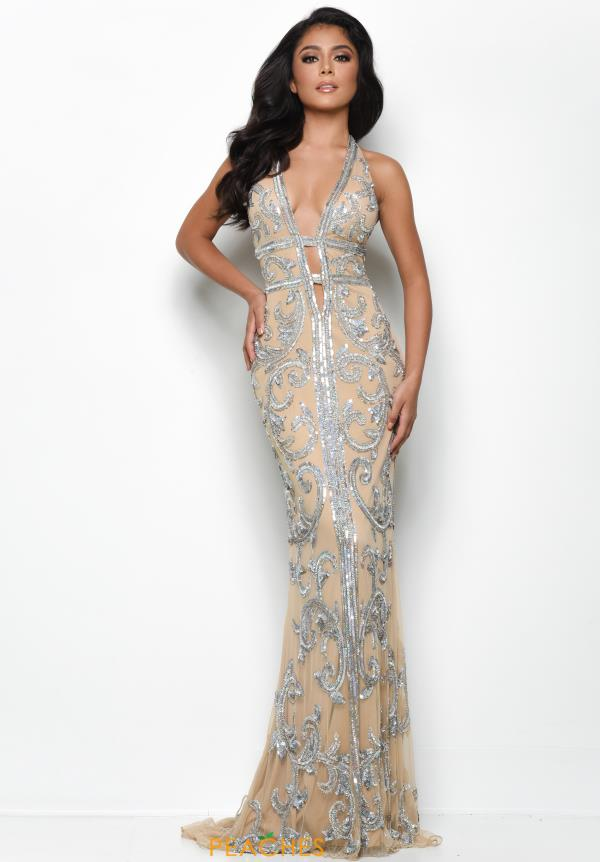 Jasz Couture Long Beaded Dress 7124