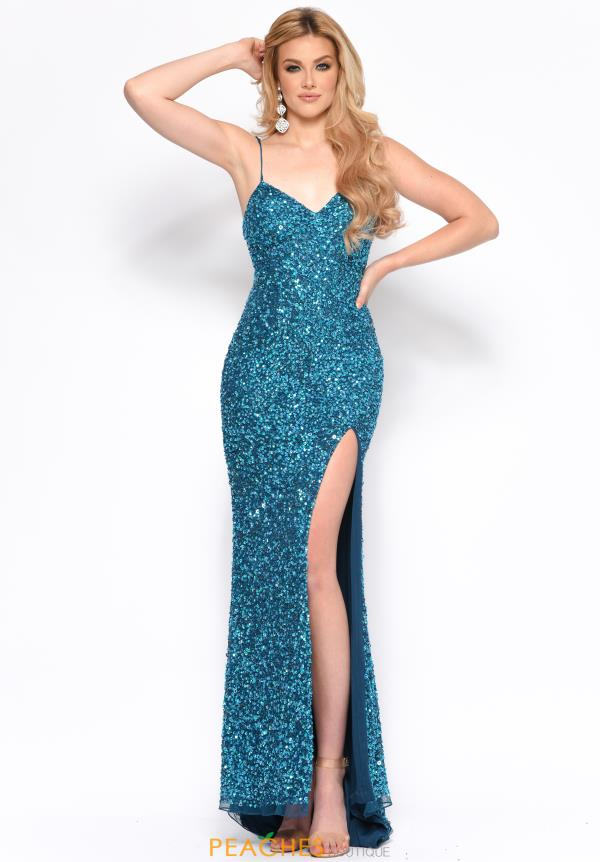 Jasz Couture Long Beaded Dress 7149
