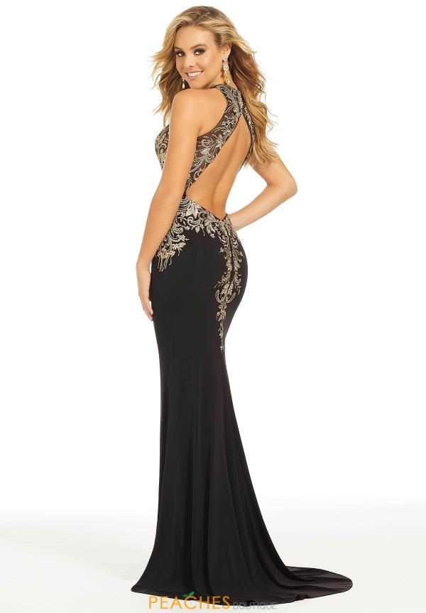 Just Peachy Sexy Open Back Prom Dress 41004