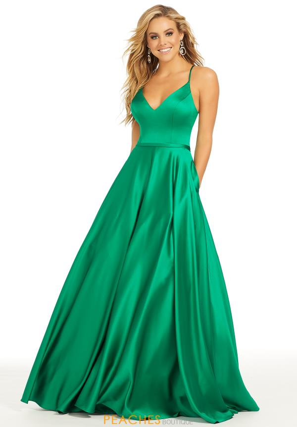 Just Peachy Emerald A Line Dress 41005