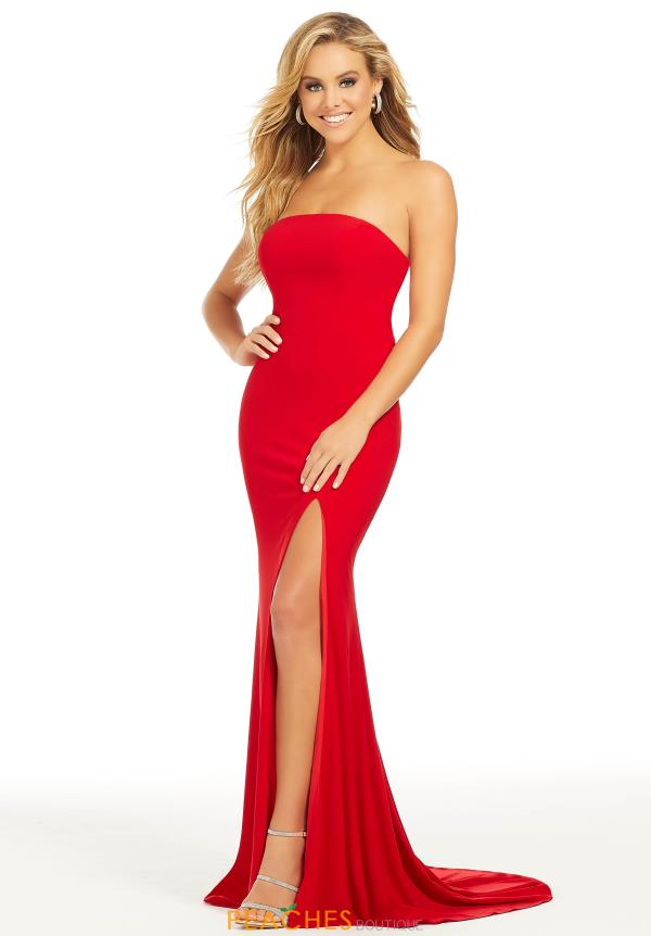 Just Peachy Long Red Dress 41006