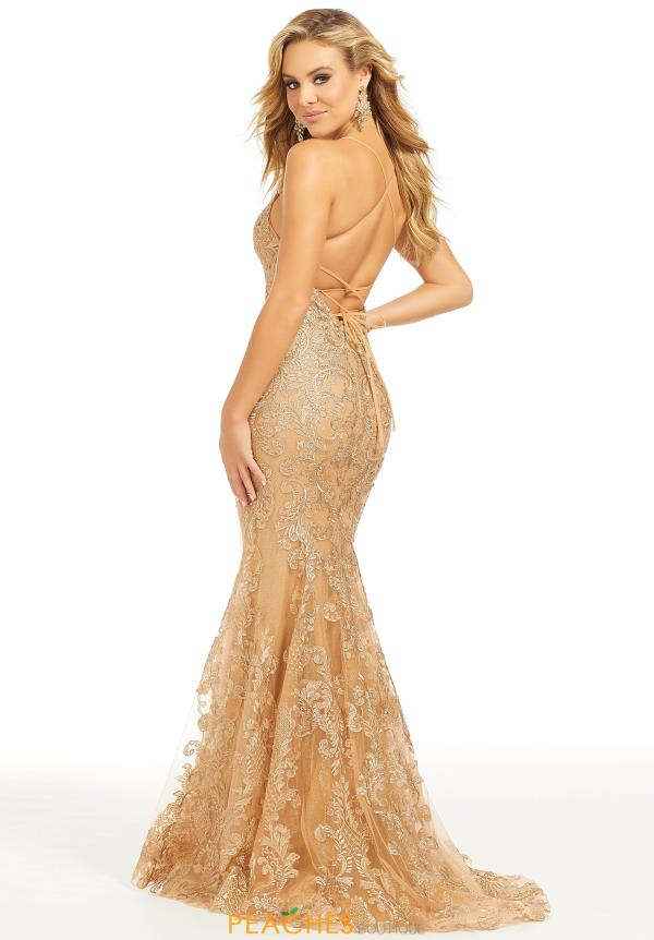 Just Peachy Long Gold Dress 41008