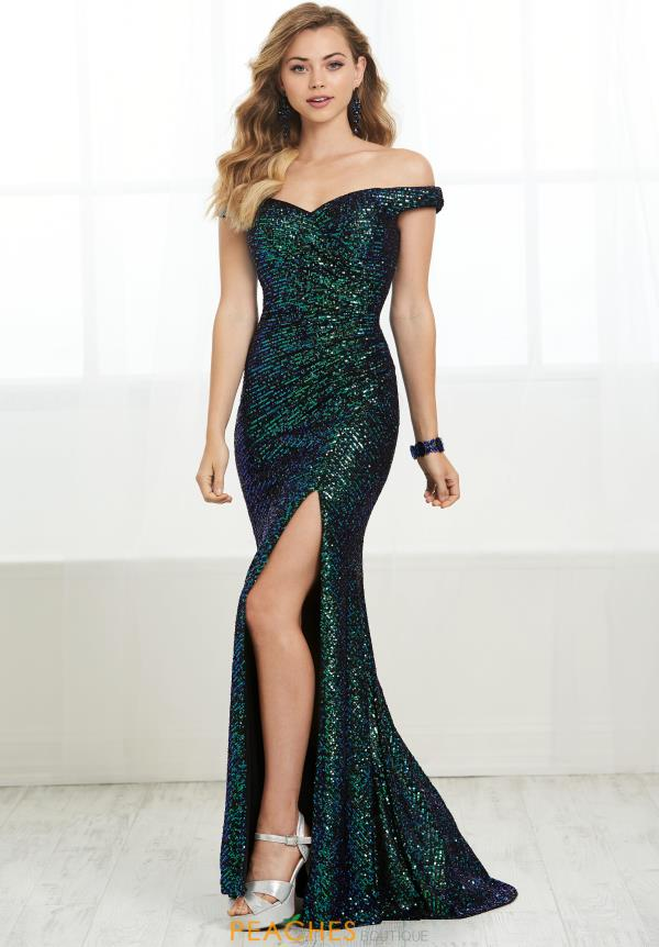 Tiffany Long Sequined Dress 16436