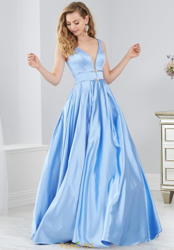 Tiffany Satin A-Line Dress 46205