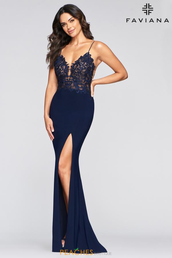 Faviana Long Fitted Dress S10275